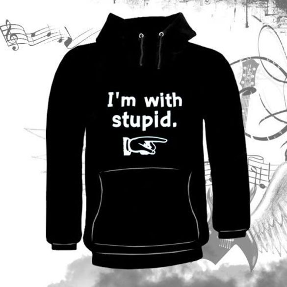 Bluza kangurka  I'M WITH STUPID