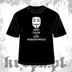 Koszulka KEEP CALM AND STAY ANONYMOUS