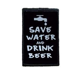 Naszywka SAVE WATER AND DRINK BEER
