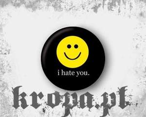 Przypinka I HATE YOU 02
