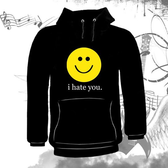 Bluza kangurka  I HATE YOU 02